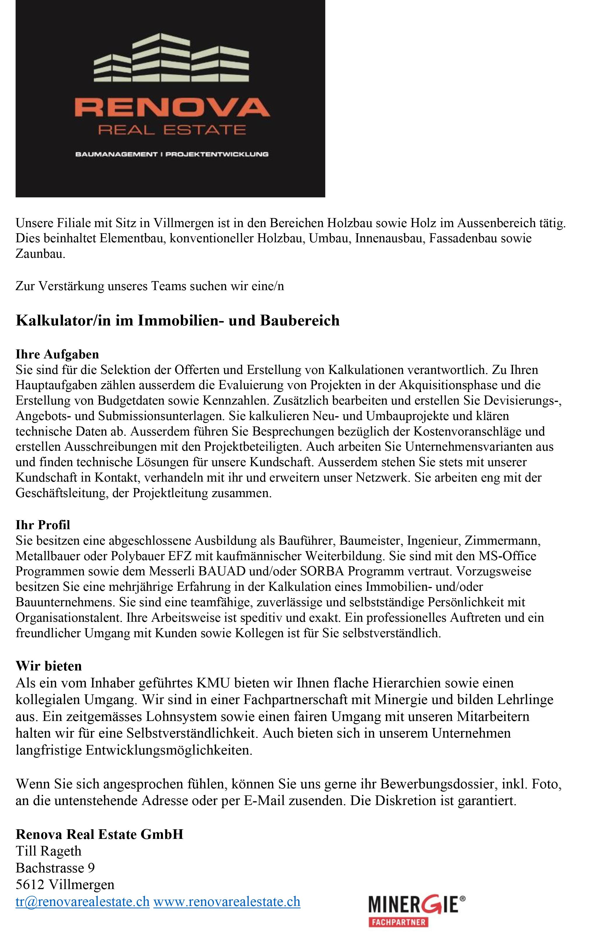 Ansicht Projekt Wohnen am Dorfbach